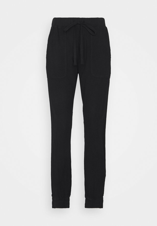 NAYA PANTS - Trousers - black deep