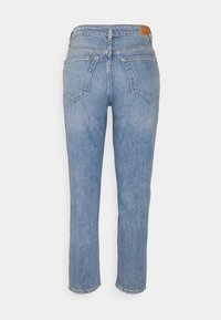Marc O'Polo - TROUSER MOMS FIT HIGH WAIST - Jeans straight leg - blue denim - 1