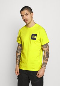 The North Face - FINE TEE - Triko s potiskem - sulphur spring green - 0