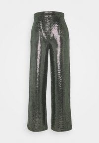 YASTULAH HW WIDE SEQUIN PANT - Trousers - silver