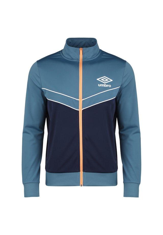 DIAMOND TRACK TOP - Training jacket - stellar / medieval blue / cantaloupe