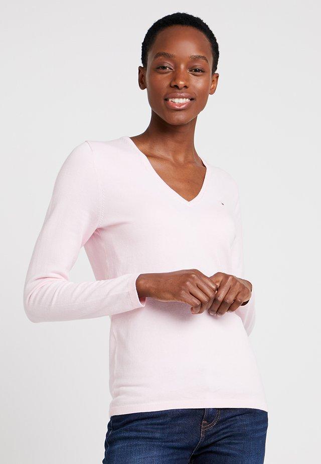 HERITAGE V NECK  - Pullover - cradle pink