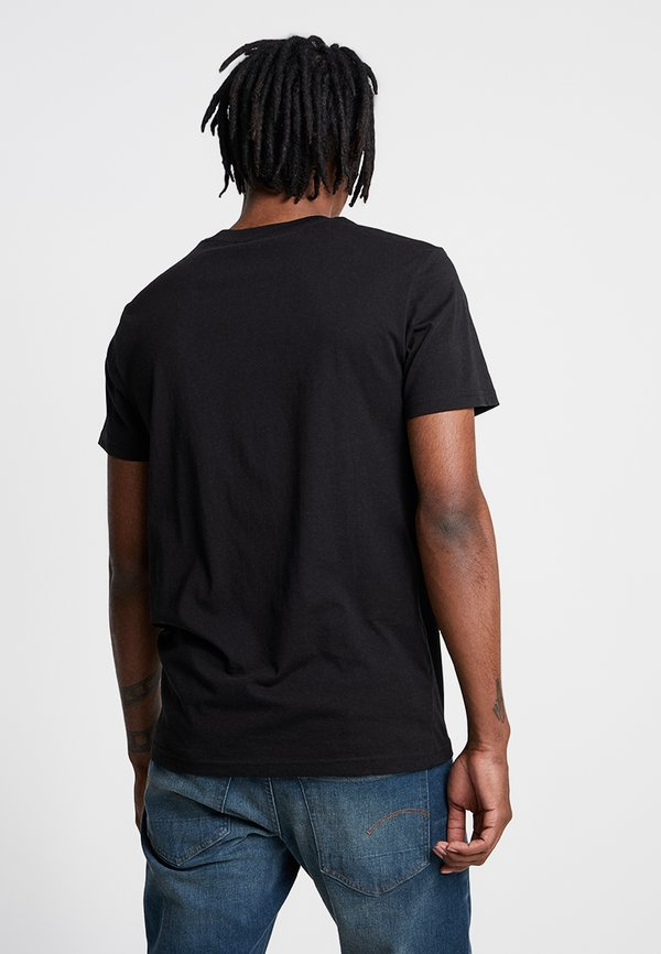 G-Star GRAPHIC LOGO - T-shirt z nadrukiem - dark black/czarny Odzież Męska PDFF