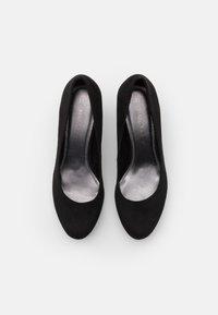Marco Tozzi - COURT SHOE - Platform heels - black - 5