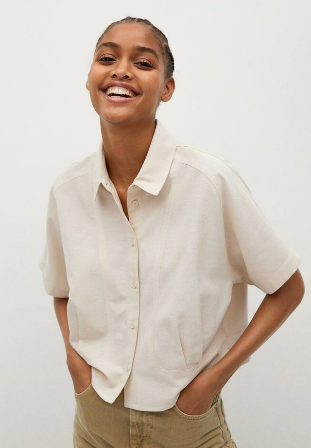 LOUISA H - Button-down blouse - beige