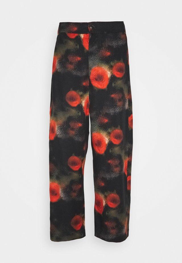 KEY PANTS ARTIST PRINT - Pantaloni - black