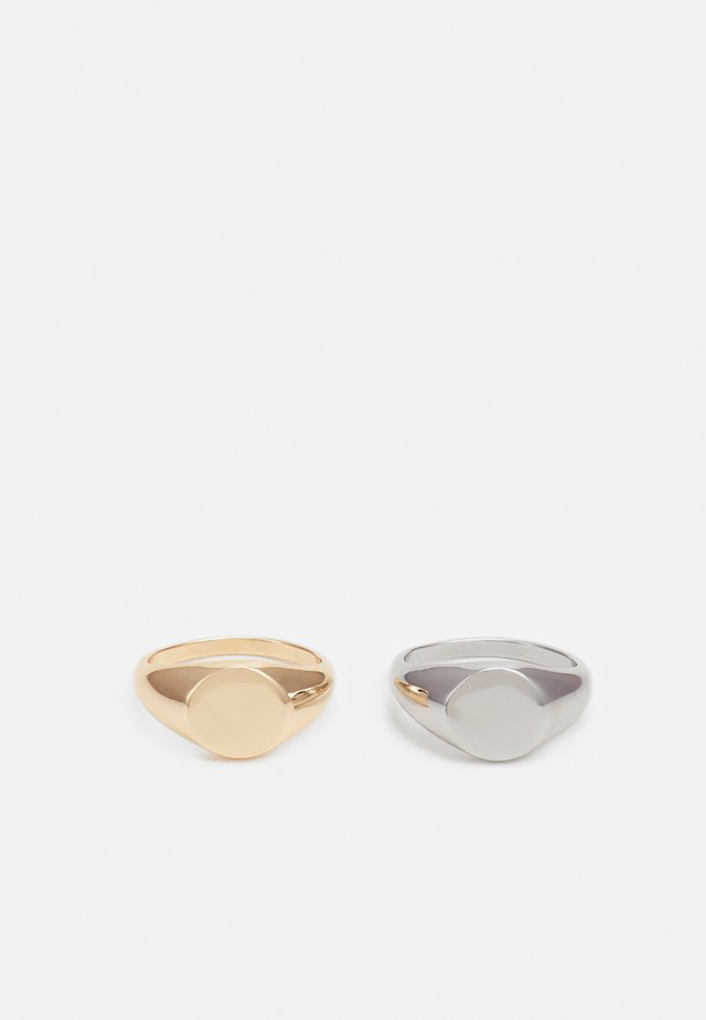 SIGNET 2 PACK - Ring - silver-coloured/gold-coloured