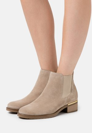 LEATHER - Boots à talons - beige