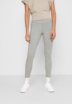 Leggings - grey heather/white