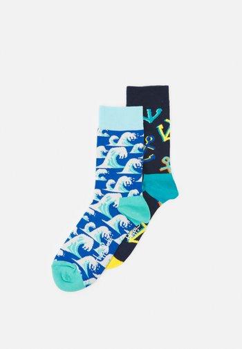 WAVE SOCK/BIG ANCHOR SOCK UNISEX 2 PACK - Socks - multi