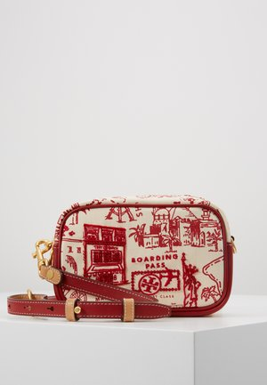 PERRY PRINTED CANVAS MINI BAG - Across body bag - red destination