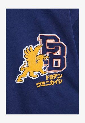 Print T-shirt - mottled dark blue