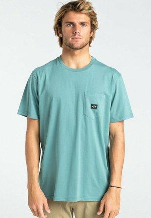 Print T-shirt - light marine