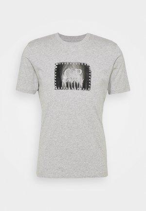 SHORT SLEEVE - Print T-shirt - grey melange