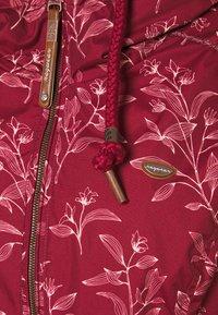 Ragwear Plus - DANKA LEAVES - Krátký kabát - wine red - 2