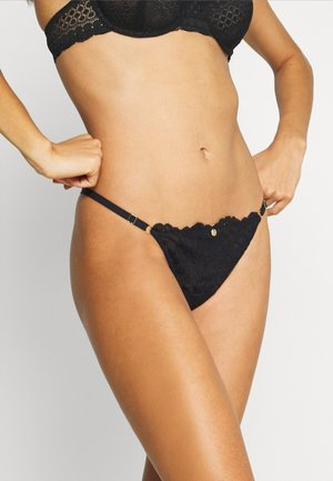 STATEMENT THONG - String - black
