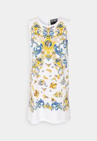 Versace Jeans Couture - LADY DRESS - Denimové šaty - optical white/blue bell - 5