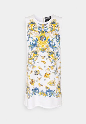 LADY DRESS - Denimové šaty - optical white/blue bell
