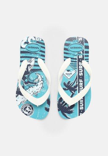 ATLETIC BLUE - T-bar sandals - blue