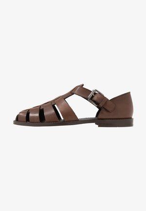 KRISTOF - Nazouvací boty - brown
