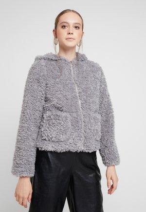 HOODED SHORT - Winter jacket - grey