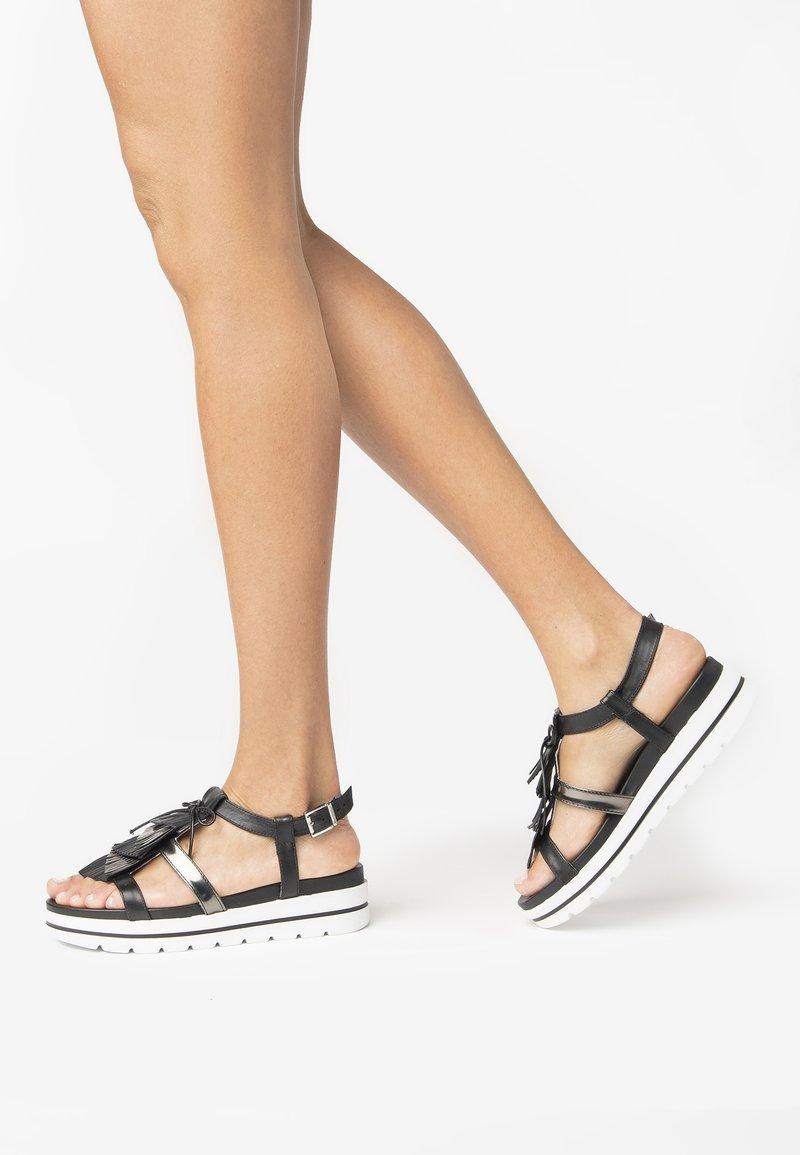 NeroGiardini - Platform sandals - nero