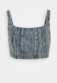 Missguided - CORSET - Top - blue - 4