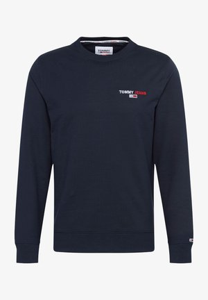 CHEST GRAPHIC CREW - Sweatshirt - blue