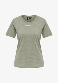 Hummel - Basic T-shirt - vetiver melange - 3