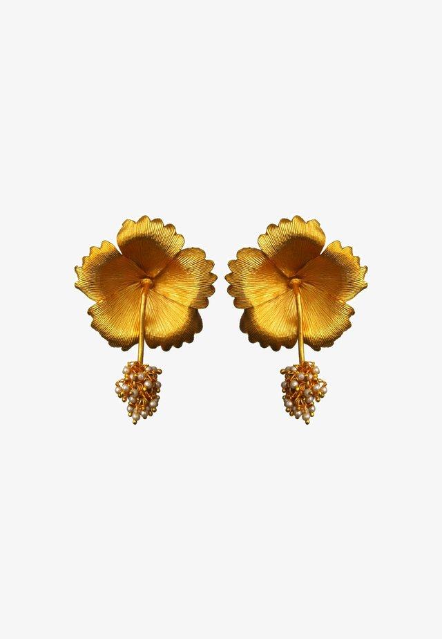WILD HIBISCUS - Orecchini - gold