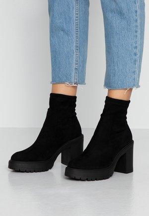 BETHANY - Ankelboots med høye hæler - black
