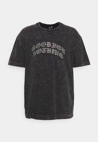 Good For Nothing - ACID WASH RHINESTONE UNISEX - T-shirt med print - grey - 0