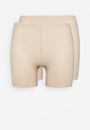 EASY GLIDE ON AND OFF GIRLSHORT COOL COMFORT 2 PACK - Stahovací prádlo - nude/nude