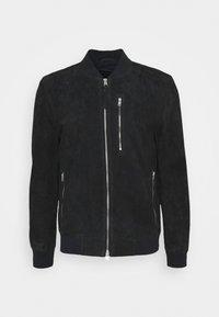 KEMBLE BOMBER - Leather jacket - ink blue