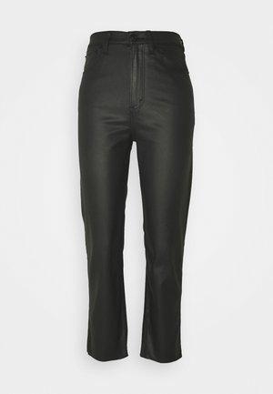 COATED CURVY STRAIGHT LEG  - Straight leg jeans - coated black