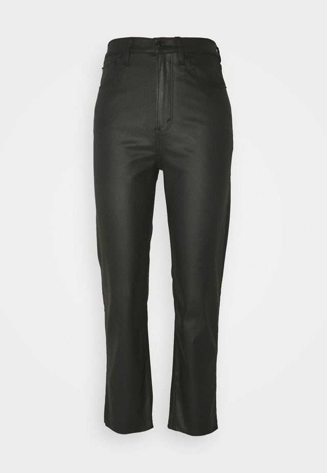 COATED CURVY STRAIGHT LEG  - Straight leg jeans - coated black