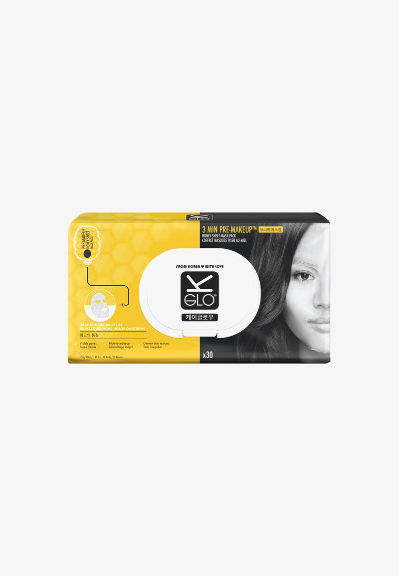 K-Glo - PRE MAKE-UP HONEY SHEET MASKS X 30 - Face mask - F6C500 yellow