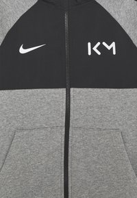 Nike Performance - KYLIAN MBAPPE HYBRID HOODIE - Zip-up hoodie - carbon heather/black/white - 2