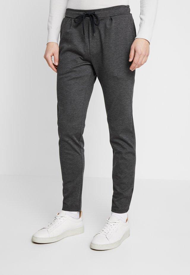 Pantalon classique - mottled dark grey