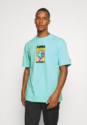 DOWNTOWN GRAPHIC TEE - Print T-shirt - aruba blue