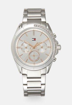 KENNEDY - Zegarek chronograficzny - silver-coloured/white