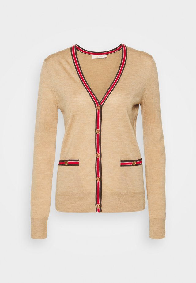 COLORBLOCK MADELINE CARDIGAN - Vest - classic camel/pine cone
