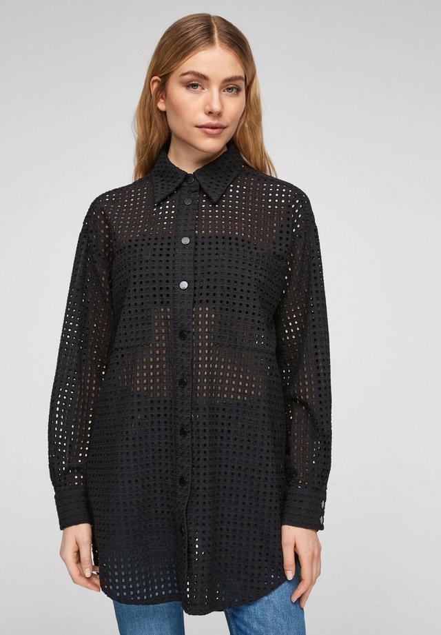 Overhemdblouse - black