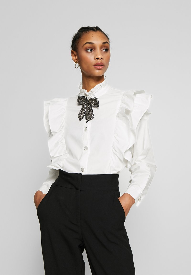 Sister Jane - MARY'S REIGN RUFFLE - Button-down blouse - ivory