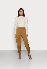 ONLY Petite - ONLROSALINE HIGHNECK PUFF - Blouse - pumice stone - 1