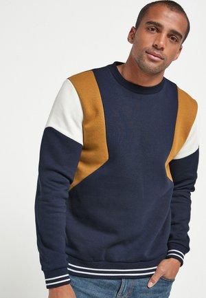 Sweatshirt - mottled royal blue