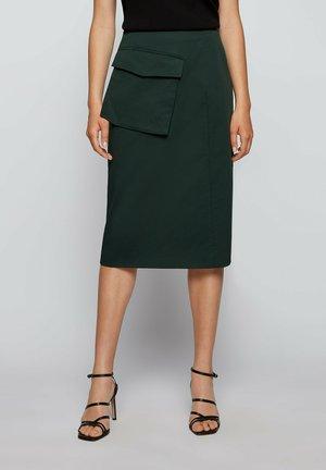 A-line skirt - open green