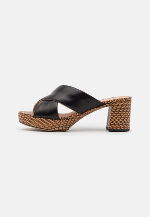 NALINI - Pantofle na podpatku - black/arga