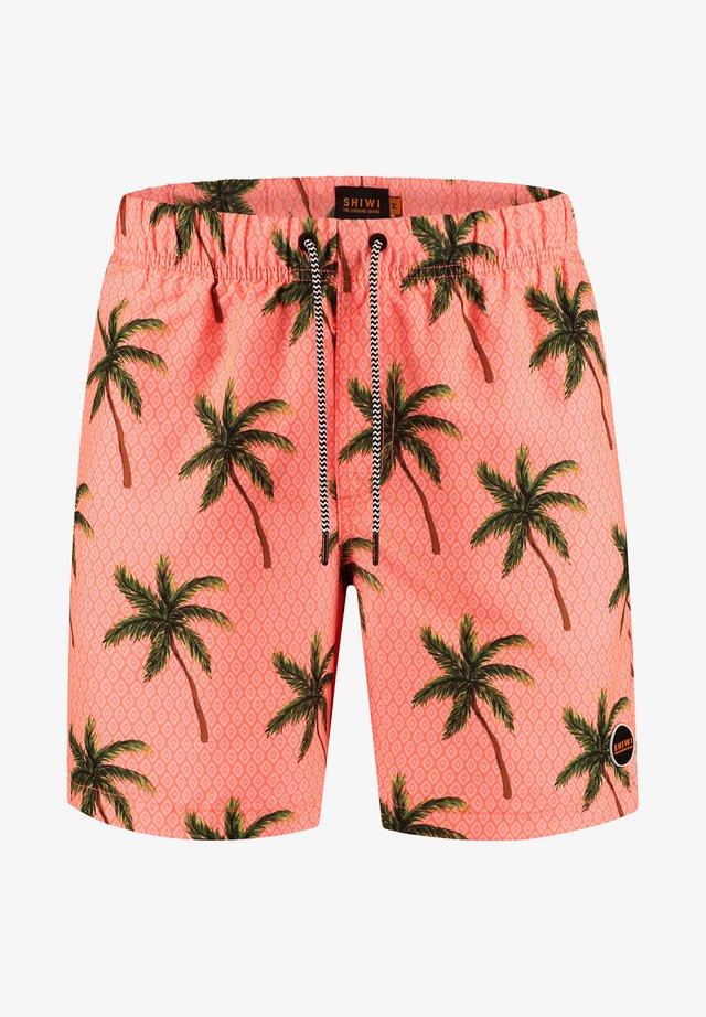 PALMS - Swimming shorts - neon orange