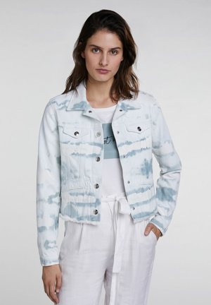 Jeansjacke - white green